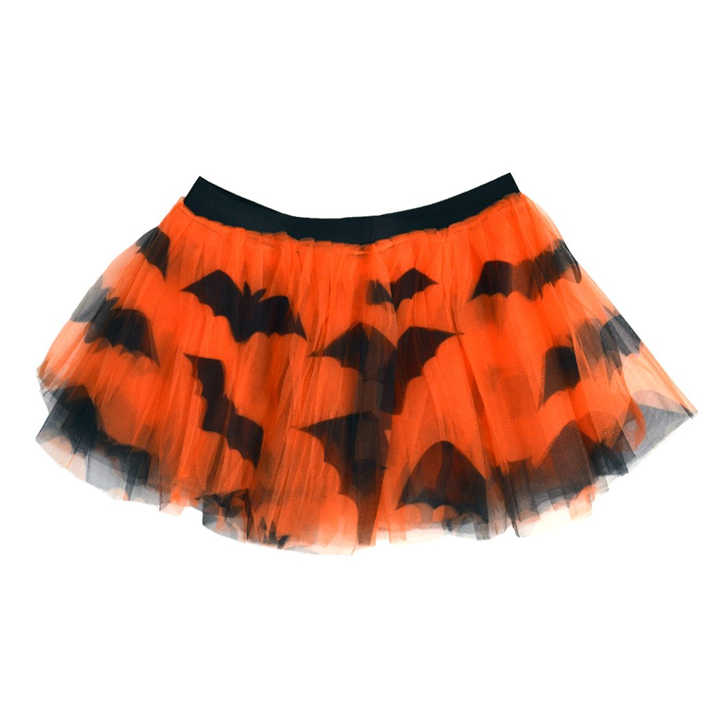 Gone For a Run Runners Printed Tutu Lightweight | One Size Fits Most | colorful Running Skirts | Bat Pattern