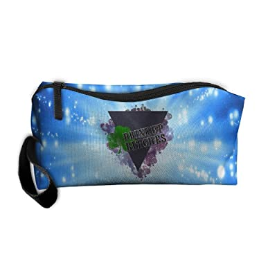 well-wreapped St Patrick's Day Drink Up Bitches Multi-functional Cosmetic Makeup Bag Zipper Closure Bags Toiletries Organizer Bag