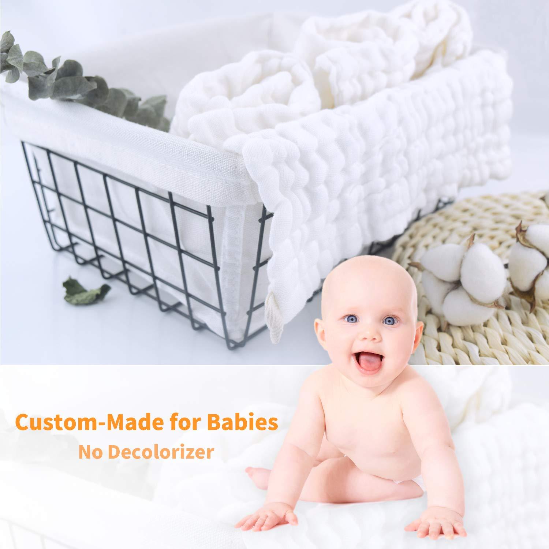 Wash Cloths As Burp Cloths: Amazon.com : Aibrisk Baby Muslin Washcloths