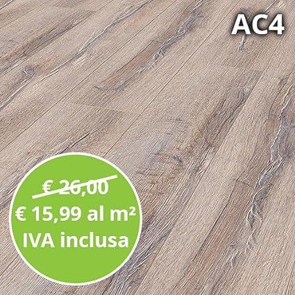 Pavimento in Laminato Rovere Sbiancato Confezione Da 2.22 Mq | AC4 ...