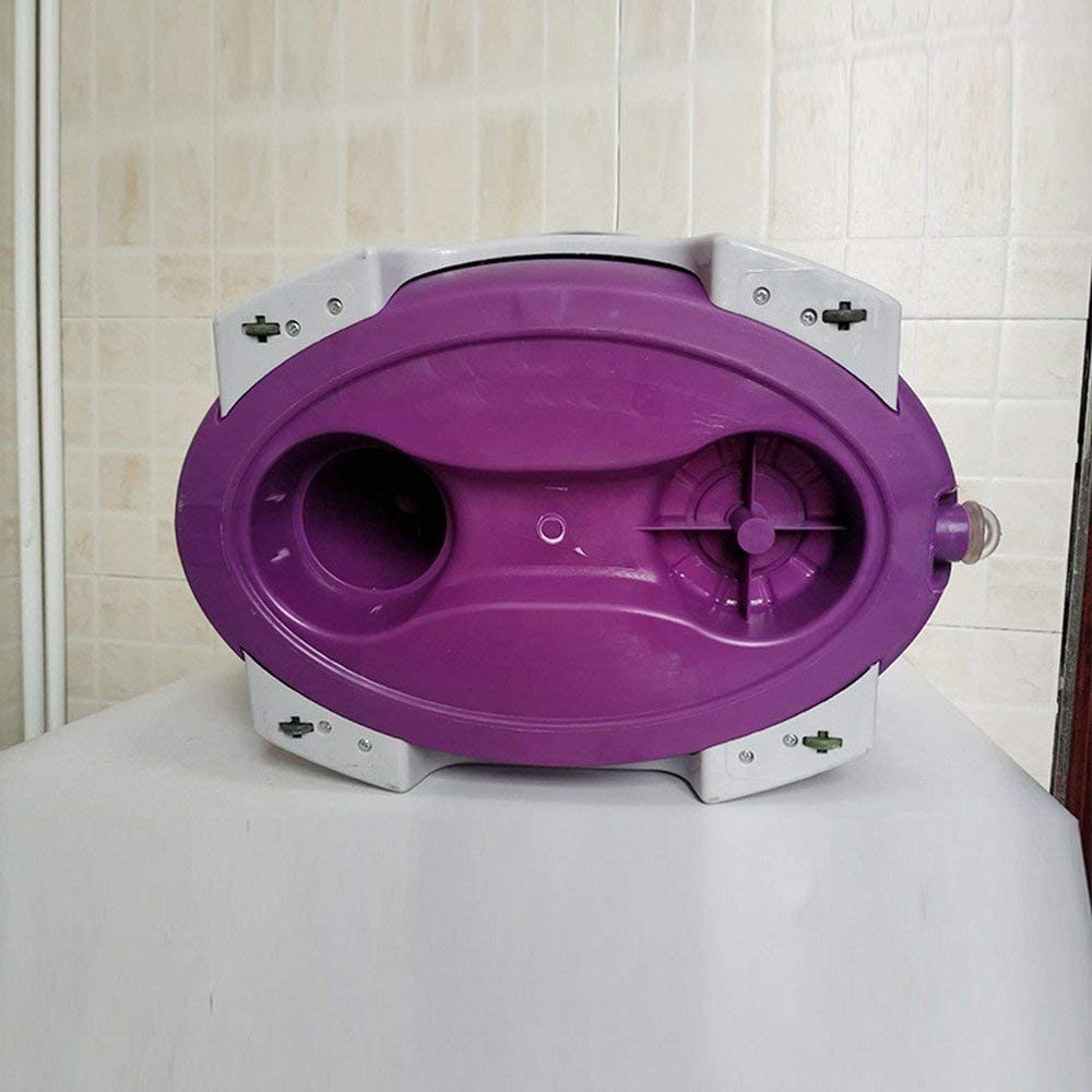 XCQ Double Entraînement Poignée Rotative Drag Mop Bascule Mop Violet Vadrouille Seau Seau Rotatif violet