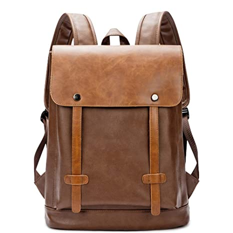 9d4f235eb119 Image Unavailable. Image not available for. Color  Vintage College Bag  School Bookbag Backpack Travel Rucksack for Men Women