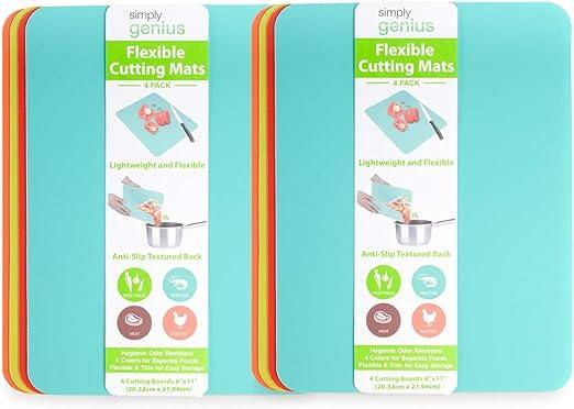 Flexible Plastic Kitchen Chopping Cutting Board Mat Non-Slip Cooking Utensil