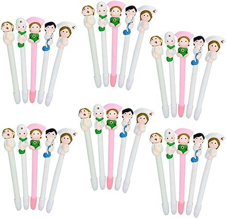 Cartoon 0.5MM School Supplies Ballpen Nurse Appearance Soft Clay Ballpoint Pen