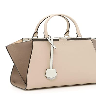 a2c3e99add6 Amazon.com: Fendi 3 Jours Beige, Brown, and Cream Toned Medium Tote Handbag  8BH279: Shoes