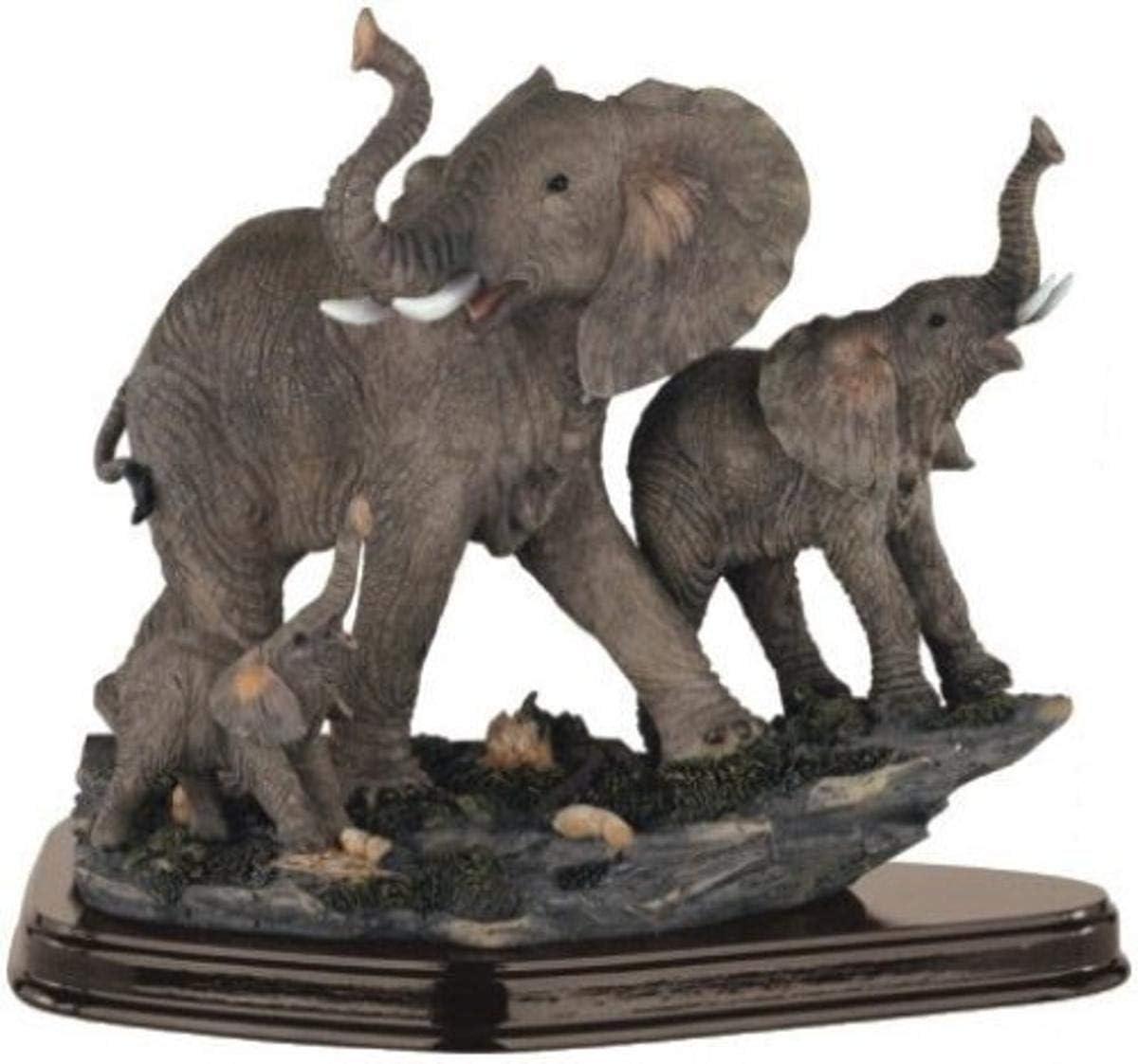 StealStreet SS-G-54070, Family of Wild Elephant Animals Figurine Statue Sculpture