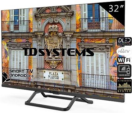 Television Smart TV 32 Pulgadas Android 9.0 y HbbTV, 800 PCI Hz ...