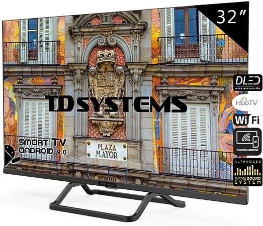 TD Systems Televisor Smart TV Android 9.0 y HBBTV, 800 PCI Hz, 3X HDMI, 2X USB. DVB-T2/C/S2, Modo Hotel - K32DLX10HS [Clase de eficiencia energética A+] 32 Pulgadas: Amazon.es: Electrónica