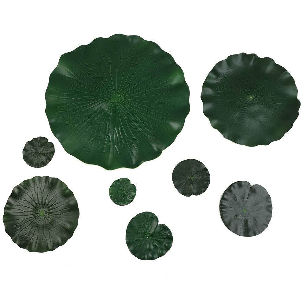 Amazoncom Adarl 10pcs Artificial Lotus Flower Leaves With