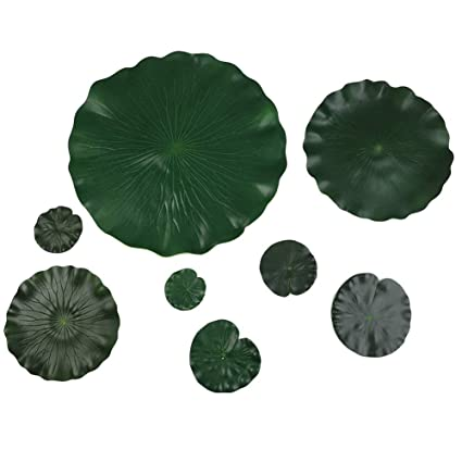 Amazon adarl 1pc artificial lotus flower leaves with different adarl 1pc artificial lotus flower leaves with different size silk floral for home office decor party mightylinksfo