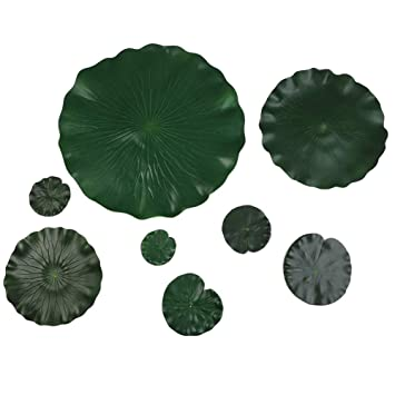 Amazon Adarl 10pcs Artificial Lotus Flower Leaves With