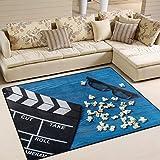 Dick Sidney Movie Clapboard Vintage Area Rug Rugs for Living Room Bedroom