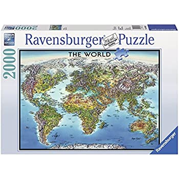 Amazon 4000 piece puzzle the world map toys games ravensburger world map jigsaw puzzle 2000 piece gumiabroncs Images