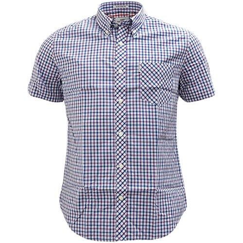 Ben Sherman Button Down Gingham House Check Shirt - 47952 Grape M