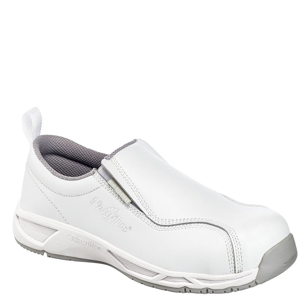 Nautilus Leather Clean Room ESD Women's Oxford 8 B(M) US White