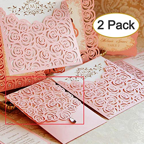 2pcs Metal Die Cuts,Wedding Invitation Rose Flower Border Cutting Dies Cut Stencils for DIY Scrapbooking Photo Album Decorative Embossing Paper Card Making Mould Stamp