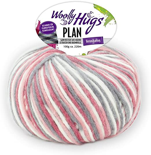 Woolly Hugs Plan Color 81 , 100g Lana Merino Extra Fina Con ...