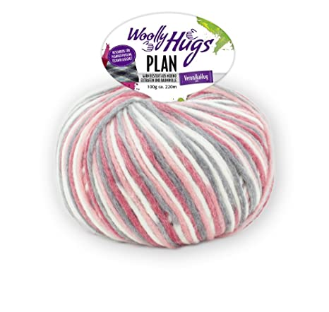 Woolly Hugs Plan Color 81 , 100g Lana Merino Extra Fina Con Algodón Para Tejer Y