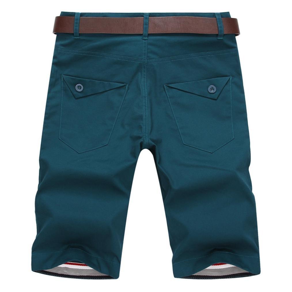 Slack Loose Elastic Waist Casual Fitness Pants Realdo Mens Solid Shorts