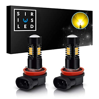 SIRIUSLED H11 H8 Golden Yellow LED Fog light Bulb Super Bright 2400 Lumen gold Color DRL Lamp 3000k Pack of 2: Automotive