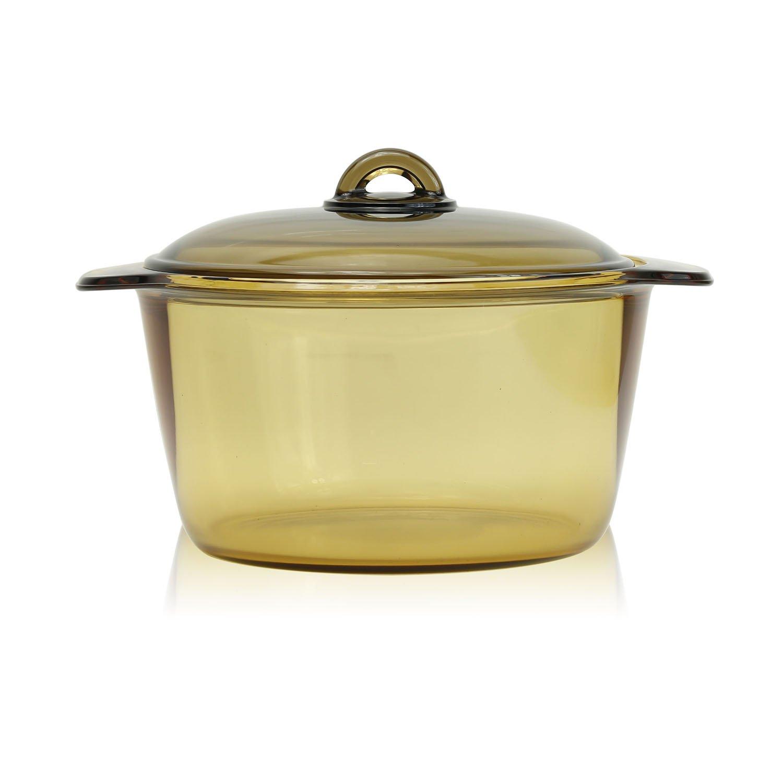 Luminarc France Amberline Blooming Heat-resistant Glass Casserole Cooking Pot (5L)