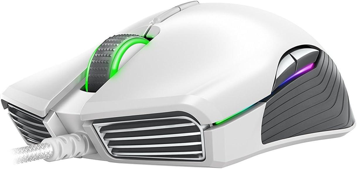 Mechanical Switches Mercury White 8 Programmable Buttons Razer Lancehead TE Ambidextrous Gaming Mouse: 16,000 DPI Optical Sensor Chroma RGB Lighting