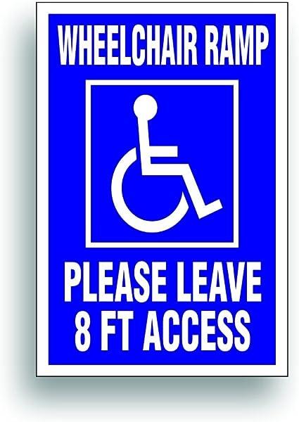 Handicap Aufkleber Rollstuhl Rampe 8 Ft Platz Für Behinderte Van Bus Fahrzeug Mit Behinderung Lift 10 2 X 15 2 Cm Von Solar Graphics Usa Auto