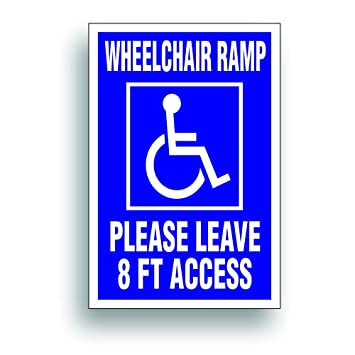 Handicap Decal SOLD AS PAIR   Wheelchair Ramp 8 Ft Clearance For  Handicapped Van, Bus