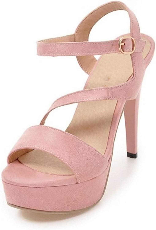 High Heel Sandals Platform Peep Toe Ankle Strap Thin Heel Sandals Summer Shoes,Pink,10