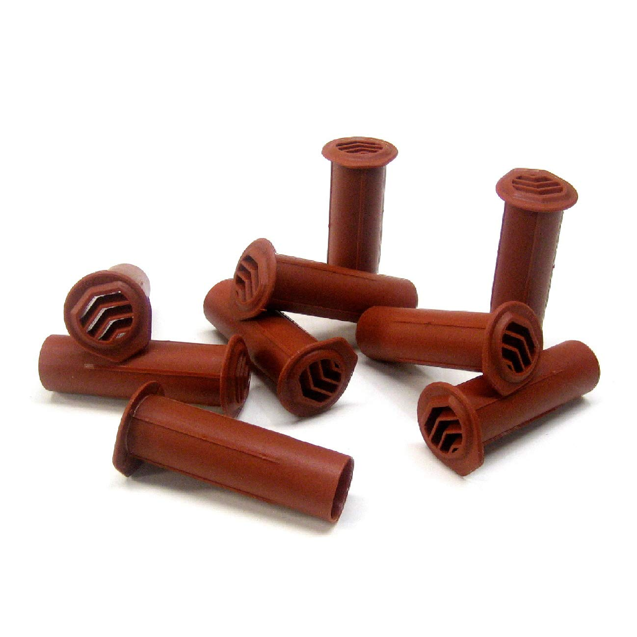 10 x Terracotta Drill Weep Vents Round Venting System Cavity / Retaining Walls Wall Manthorpe