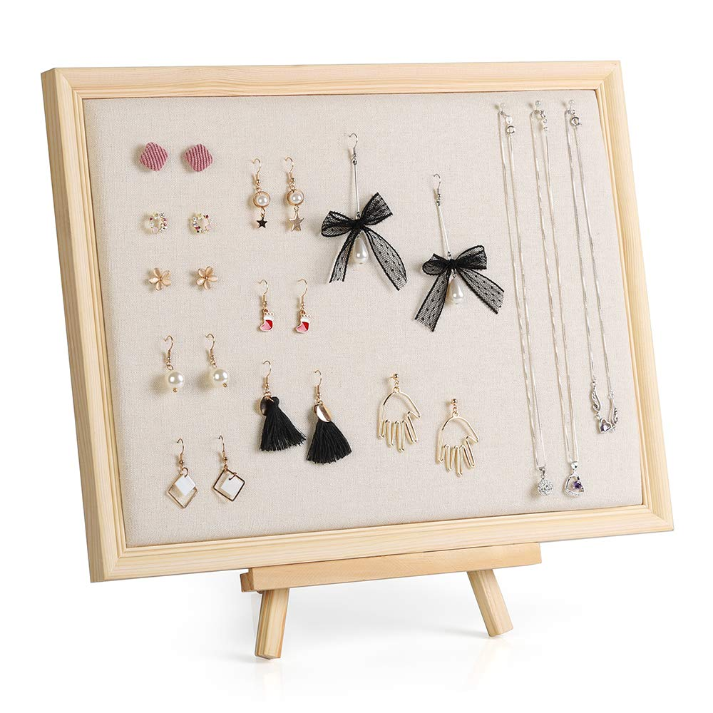 LIANTRAL Jewelry Organizer Jewelry Holder Stand Wall Mounted Organizer Necklace Earrings Display with Adjustable Rack 15.7