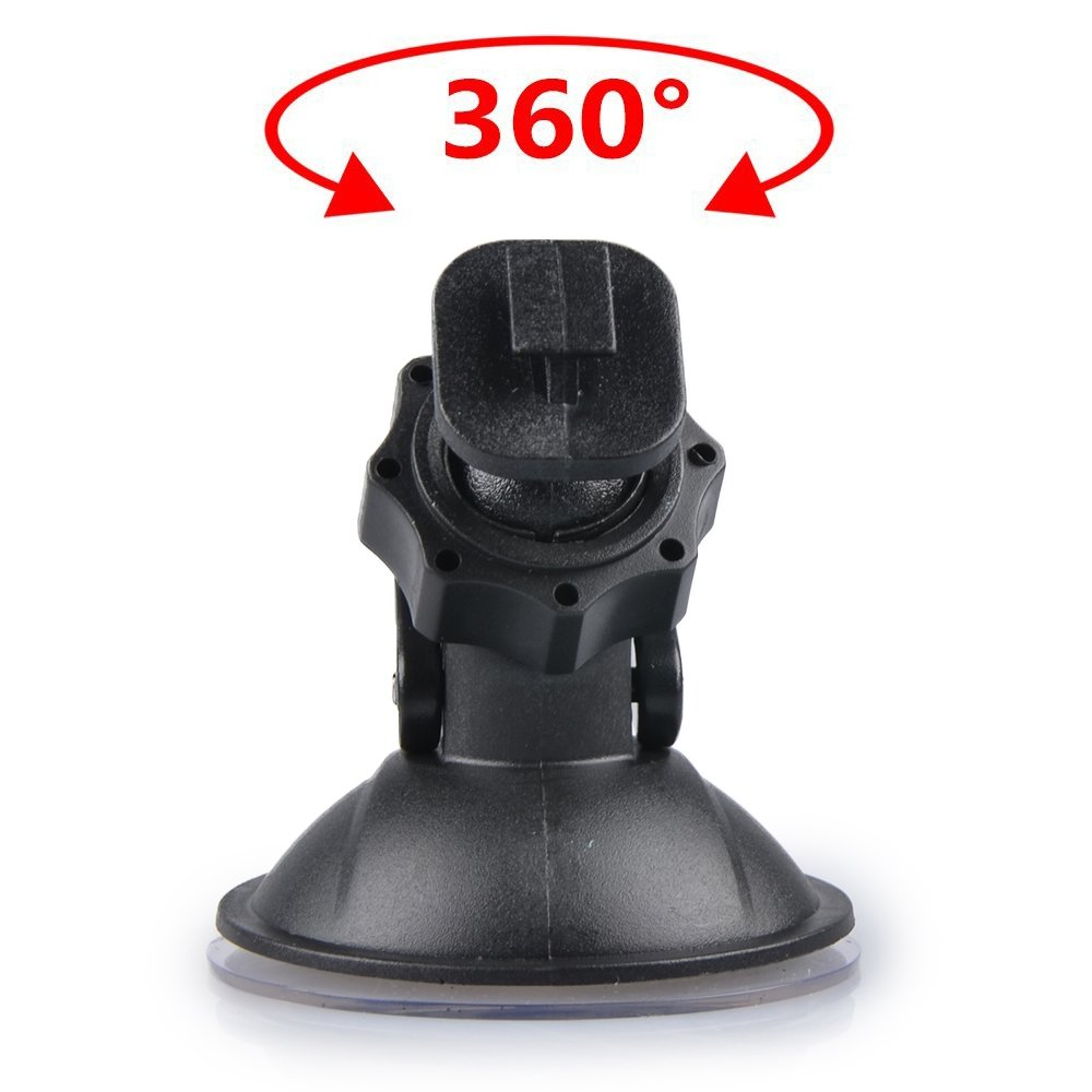 MyArmor Car Suction Cup for Dash Cam Holder Vehicle Video Recorder on Windshield & DashBoard Mount with 5 Types Adapter 360 Degree Angle View for Driving DVR Camera Camcorder GPS Action Camera