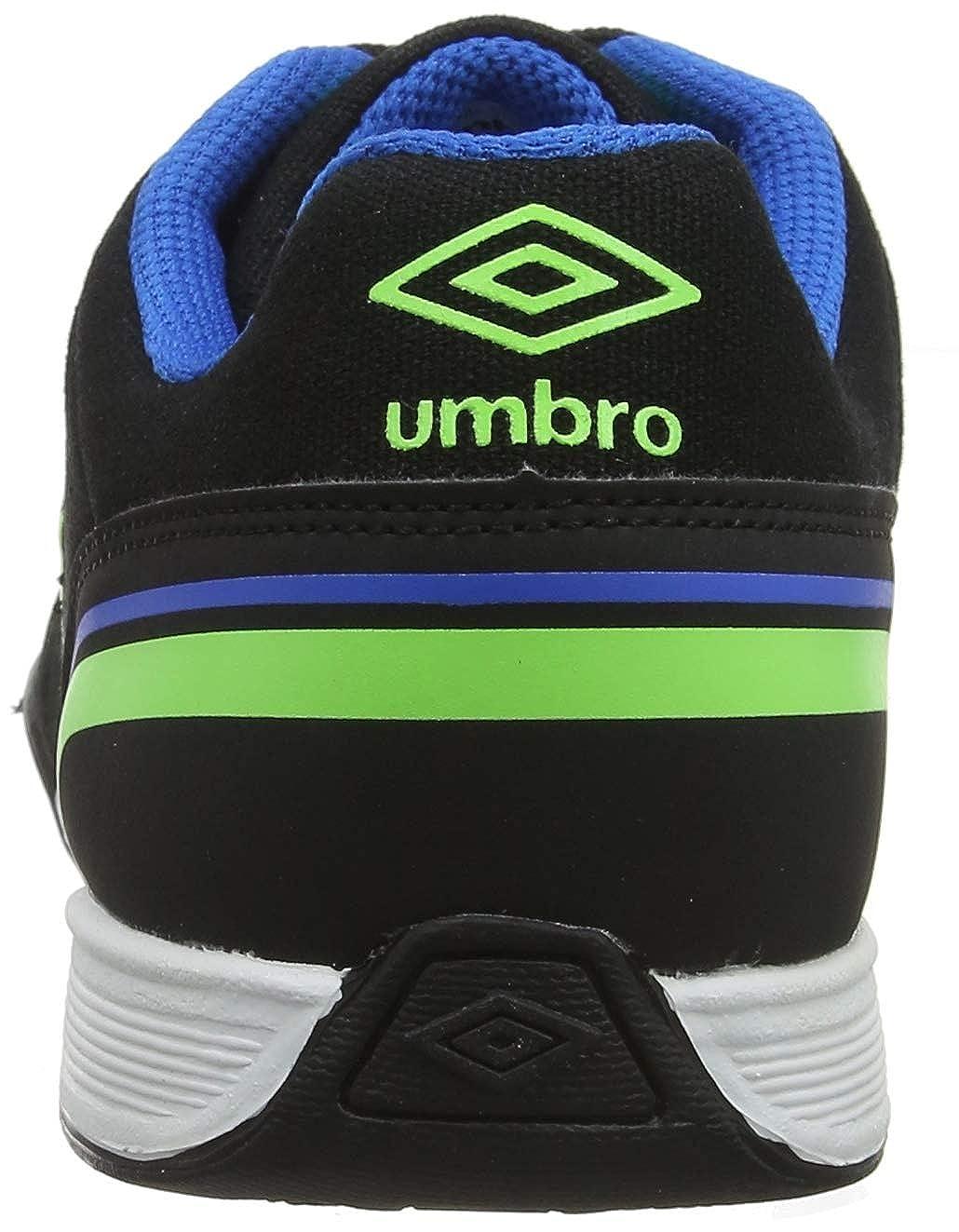 Negro Umbro Futsal Street V Black//Green Gecko//Electric Blue FCH 41 EU Zapatillas de f?tbol Sala para Hombre