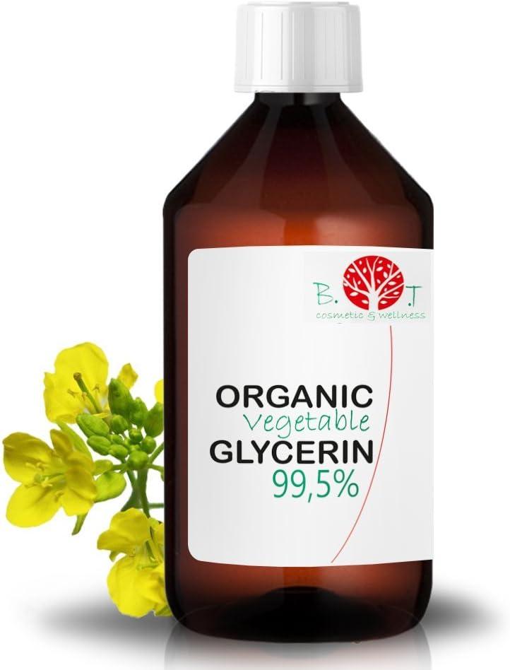 Glicerina Liquido Vegetal Pura natural Ecologica 99% PhEur Glicerol 100% Natural Grado farmaceutico y Alimentario, para Jabon, Cosmetica 630g / 500 ml