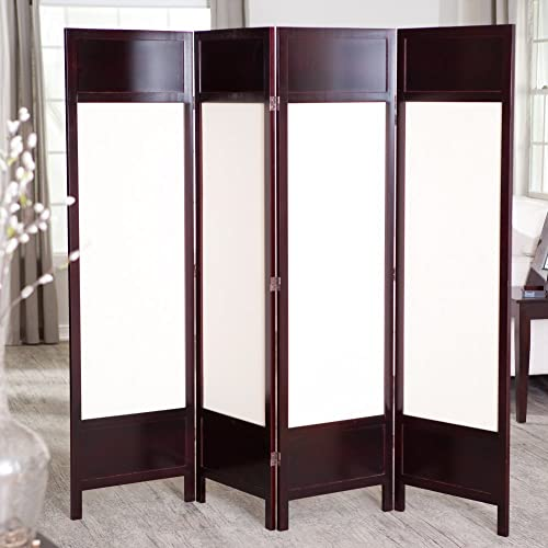 Finley Home Griffin Canvas 4 Panel Room Divider –
