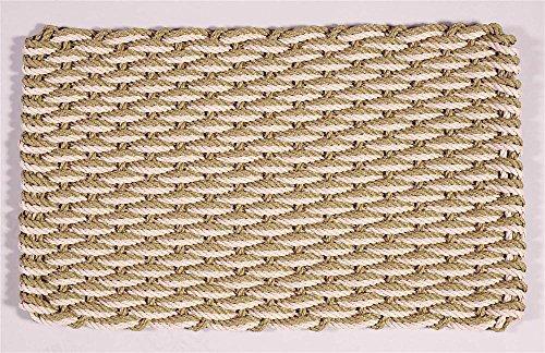Sage and Palomino Rectangular Handcrafted Doormat - Wave (Patio: 20 in. W x 36 in. L) (Cape Cod Door Mats Patio)