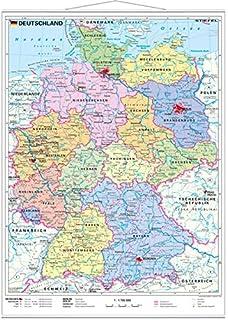 Plz Karte Deutschland Kostenlos Download.Postleitzahlenkarte Deutschland 1 700 000 Posterkarte Amazon De