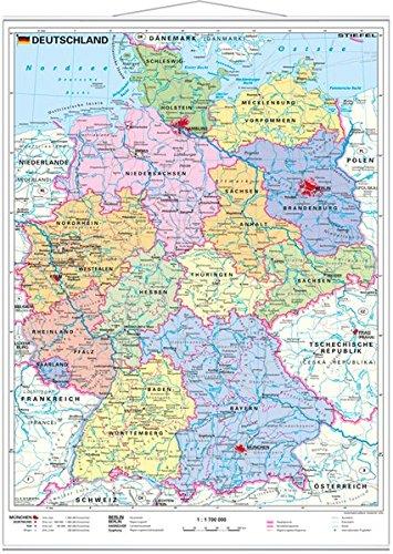 Deutschland Politisch Wandkarte Mit Metallleiste Amazon Co Uk