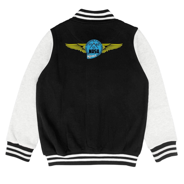 JDHASA Logo-NASA Boys and Girls 100/% Cotton Winter Baseball Jacket Baseball Coat