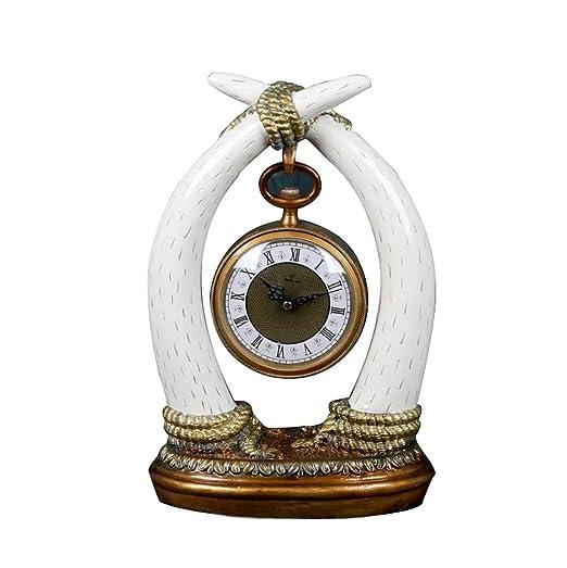 LXJ Reloj de Mesa Reloj, salón/Dormitorio Marfil Mesa Reloj ...