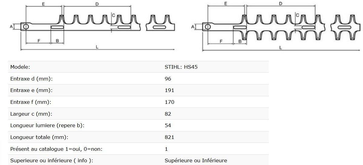 Hecken Stihl HS45 Messersatz 60 cm anpassbar