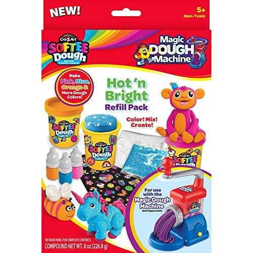 Refill Dough (Cra-Z-Art Softee Dough Hot 'n Bright Refill Pack)