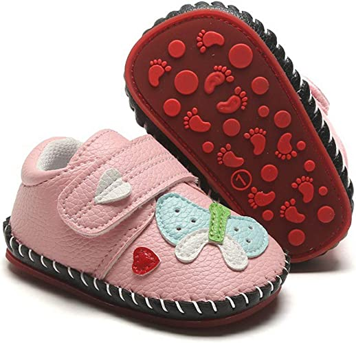 Toddler Baby Girl Boy Tassels Lace Dot Sneakers Newborn Leather Crib Sole Shoes
