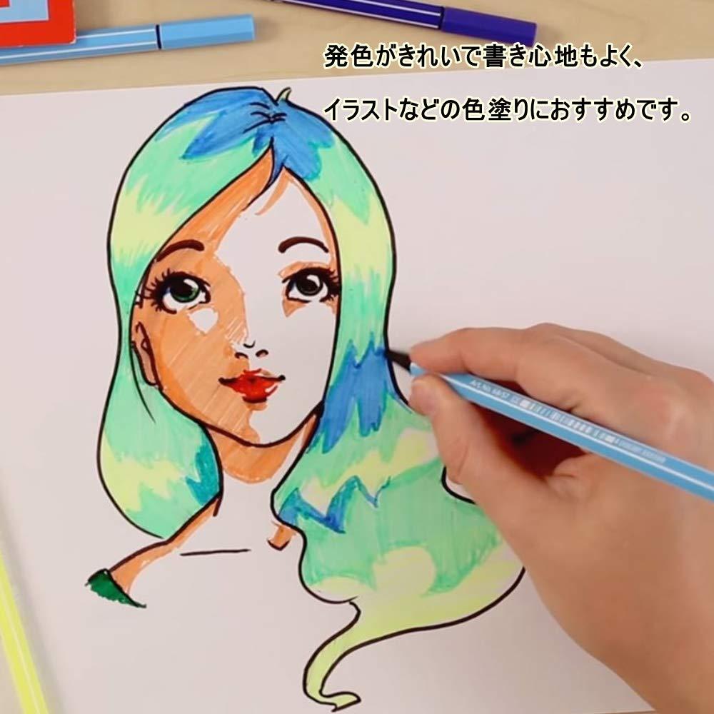 20 assorted colours STABILO Pen 68 Fibre-tip pen Colorparade desk set in vibrant Turquoise