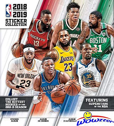 2018/19 Panini NBA Basketball HUGE 72 Page Stickers Collectors Album with 10 MINT Stickers! Every Team Features a 2 Page Color Spread! Great Collectible to House all your NEW NBA Stickers! WOWZZER! ()