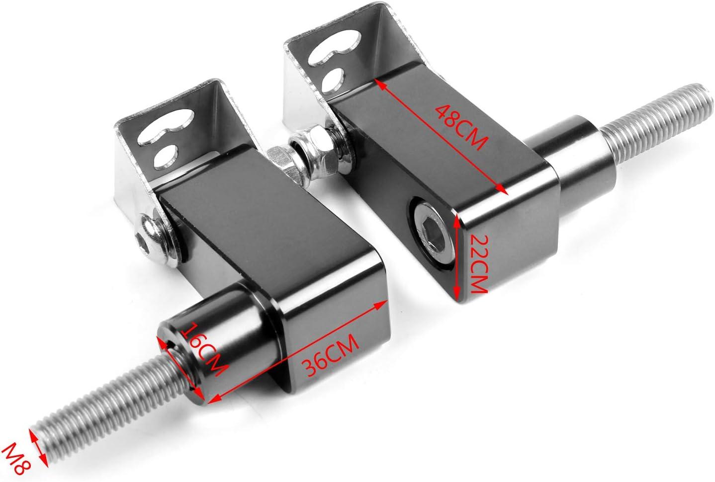 Bruce /& Shark 2Pcs Lower fork Mount Spotlight Holder Lights Bracket for XMAX 125//250//300 Titanium