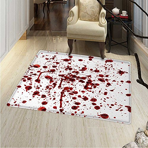 Horror Rug Kid Carpet Splashes of Blood Grunge