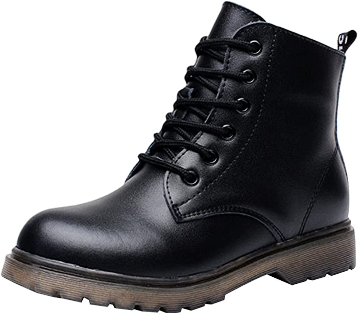 botas militares negras cuero para niño