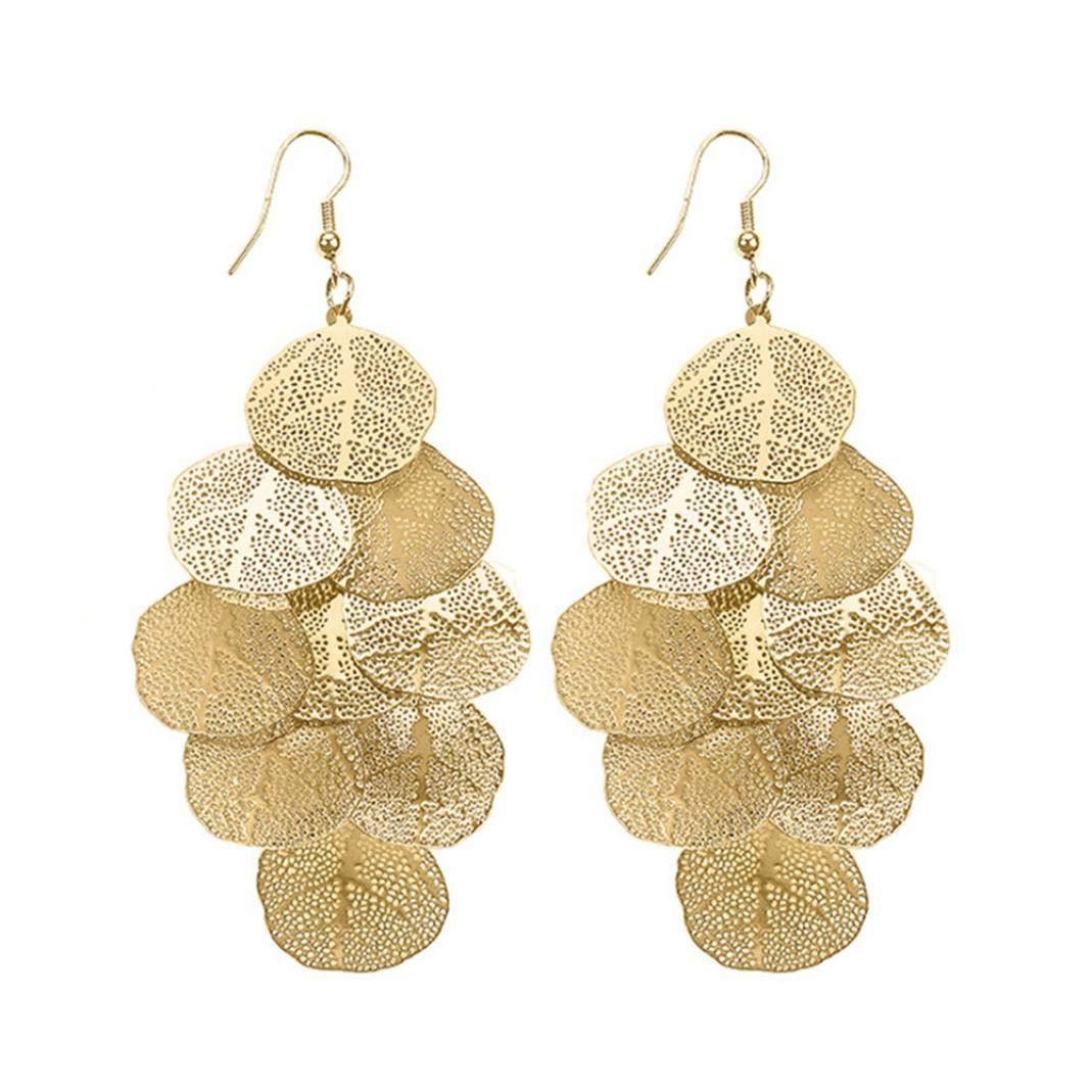 FEIDAjdzf Mehrschichtige Ohrhaken, Statement-Ohrringe, Damen, Modeschmuck, Geschenk Geschenk S Silber