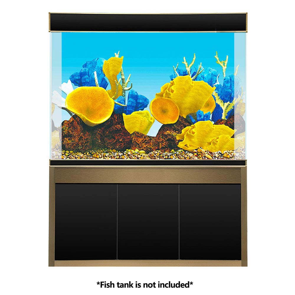 Amakunft Adhesivo de Fondo para Acuario, Doble Cara, Papel Pintado, pecera del océano y póster de Fondo de Arrecife Coral: Amazon.es: Productos para ...